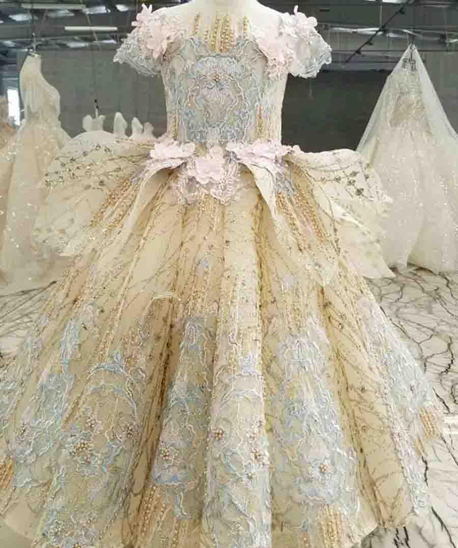ball dress gown flower girls pageant