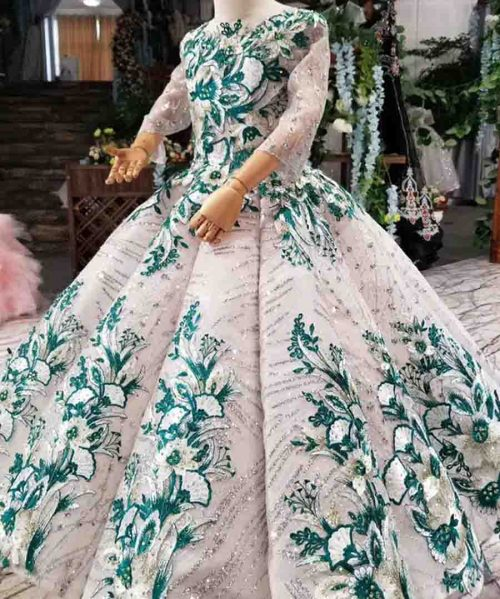 color muslim girls pageant dresses