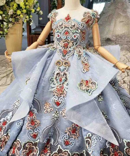 luxury communion dress with color