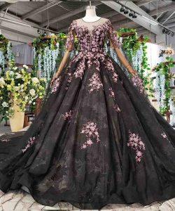 black evening dress with sleeve shawl