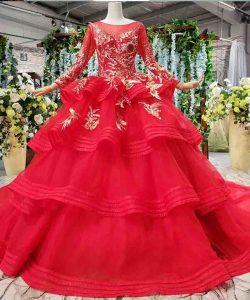 muslim wedding dresses with long sleeves