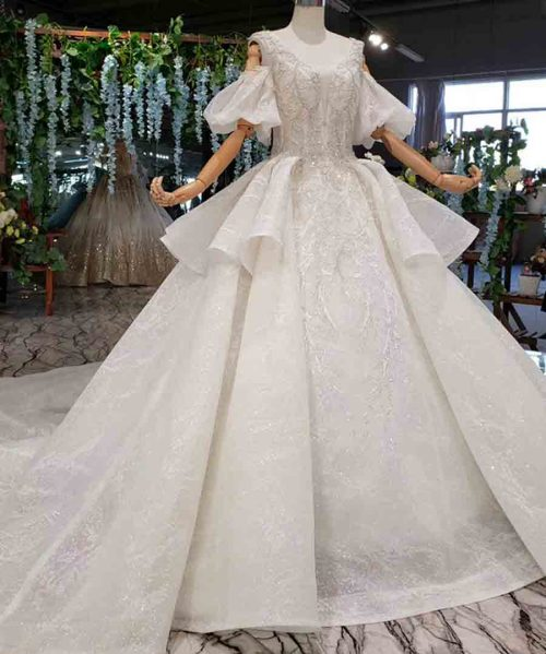 long sleeve ball gown wedding dress