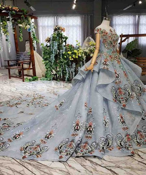 color beads evening long dress for special