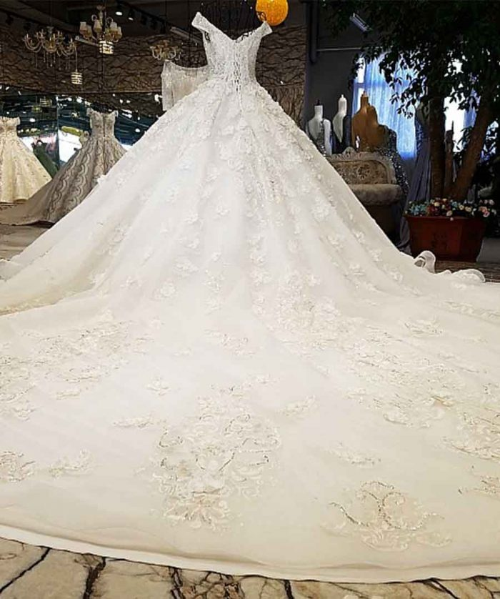 ball gown lace up wedding dresses