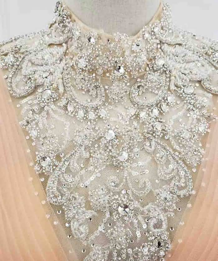 sleeveless crystal special occasion dress