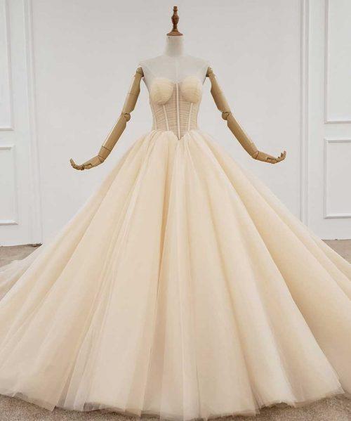 sleeveless sexy bridal dress boho