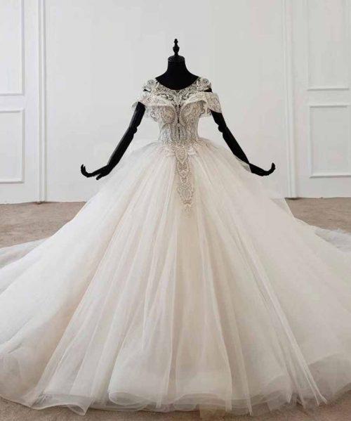 lace up back corset bridal dress