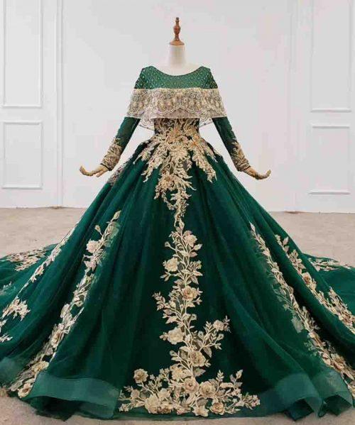 bead crystal dubai arabic evening dress