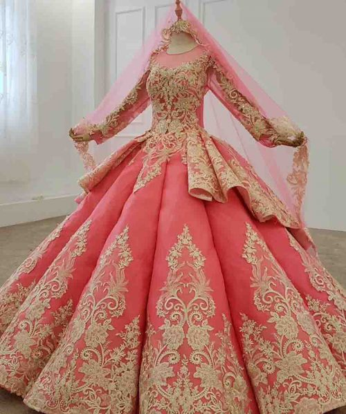 sequins pattern lace up back pink prom dress