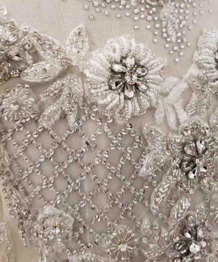 luxury white lace up girl flower dress