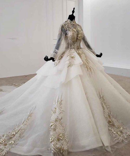 wedding dresses dubai high neck