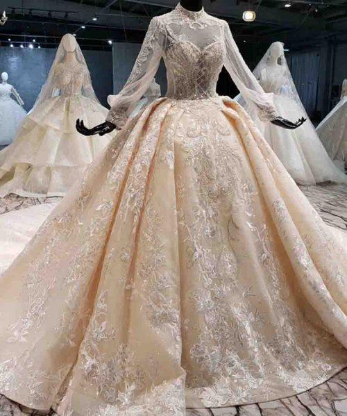 ball gown appliques lace bride dress wedding