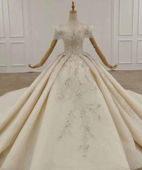 Appliques Wedding Dress Bead Flower