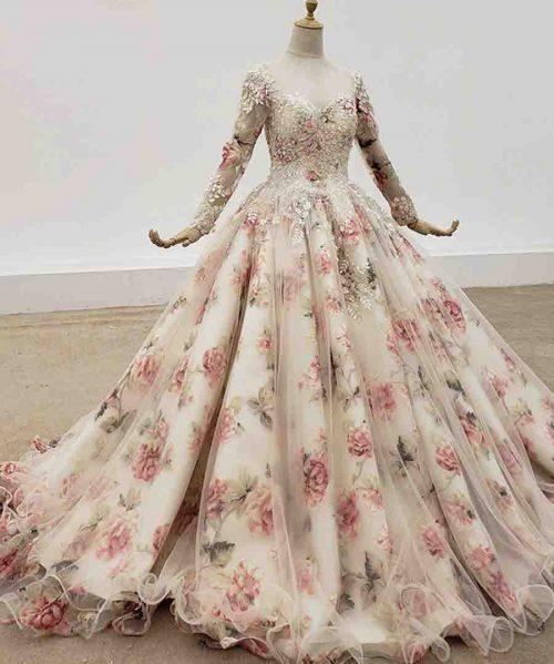Transparent O Neck Evening Dresses