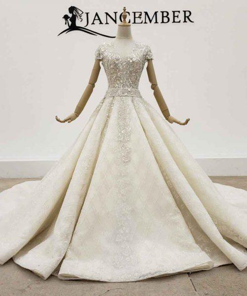 Wedding Dress Scoop Neck Short