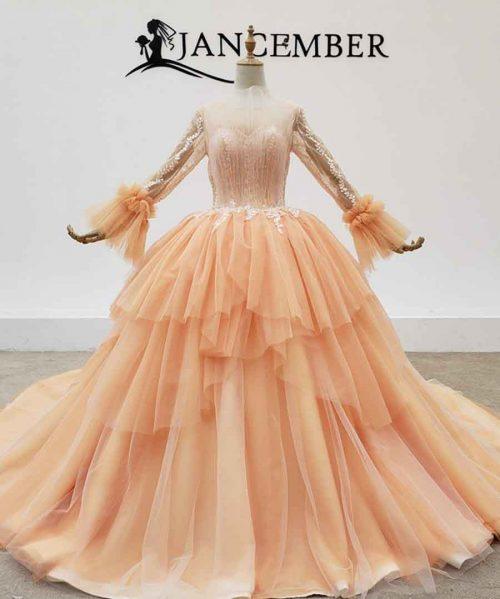 Evening Dresses Transparent O Neck Evening