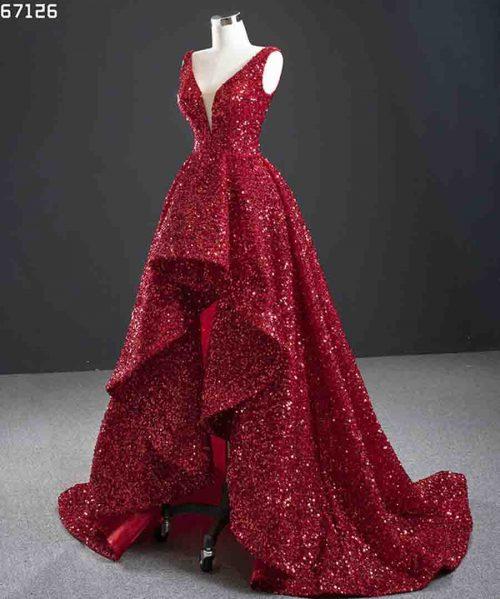 Evening Dresses V Neck Sleeve Lace Up