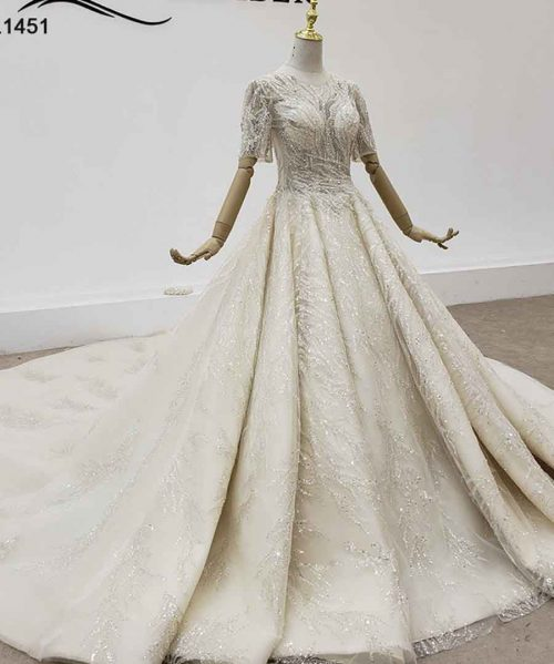 Wedding Dress 2020 Top With Pearl Bead