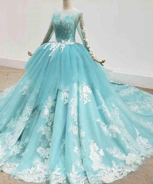 Quinceanera Dresses Lace Up Back Sweet
