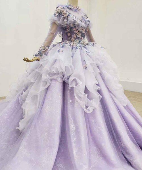 Sweet 16 Dresses Princess Purple Long Sleeve