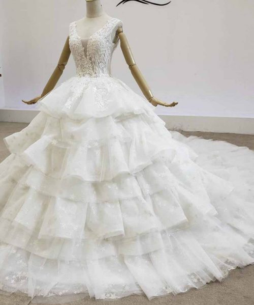 Bridal Dresses Pearl Beading Sequined