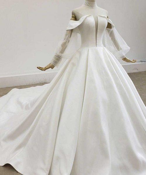 Simple Sexy Satin Wedding Dresses 2020