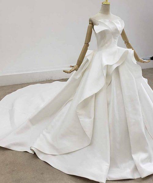 Simple Satin With Wedding Dress