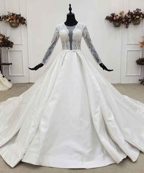 Perspective Invisible Zipper Wedding Dress