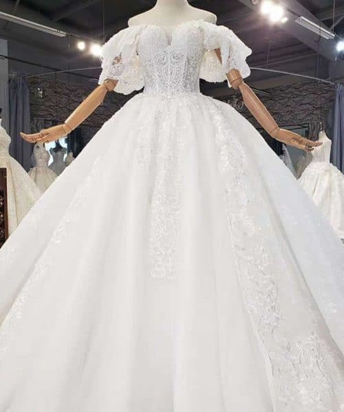 Beading Full Of Sequin And Crystals Wedding Dress