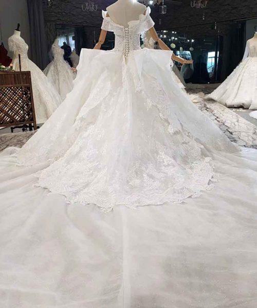Crystals Sweetheart Off The Shoulder Wedding Dress