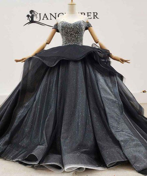 Noble And Elegant Black Wedding Dress 2020