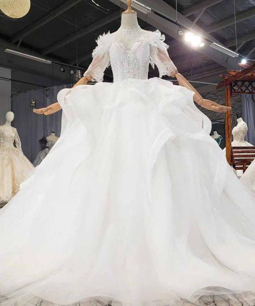 Beautifully Applique Wedding Dress 2020