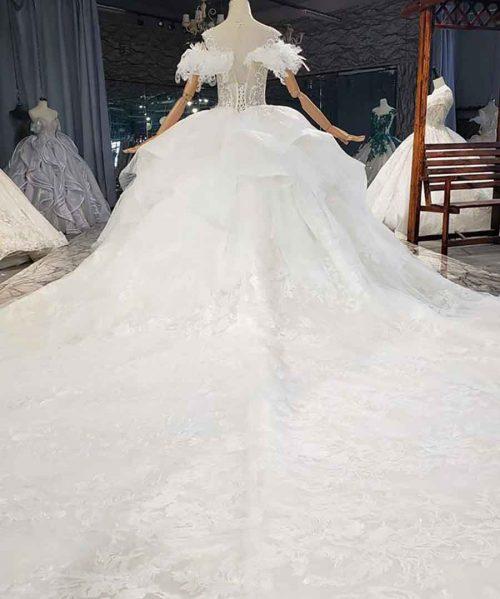 Sweetheart Luxurious Sequined Wedding Dress 2020