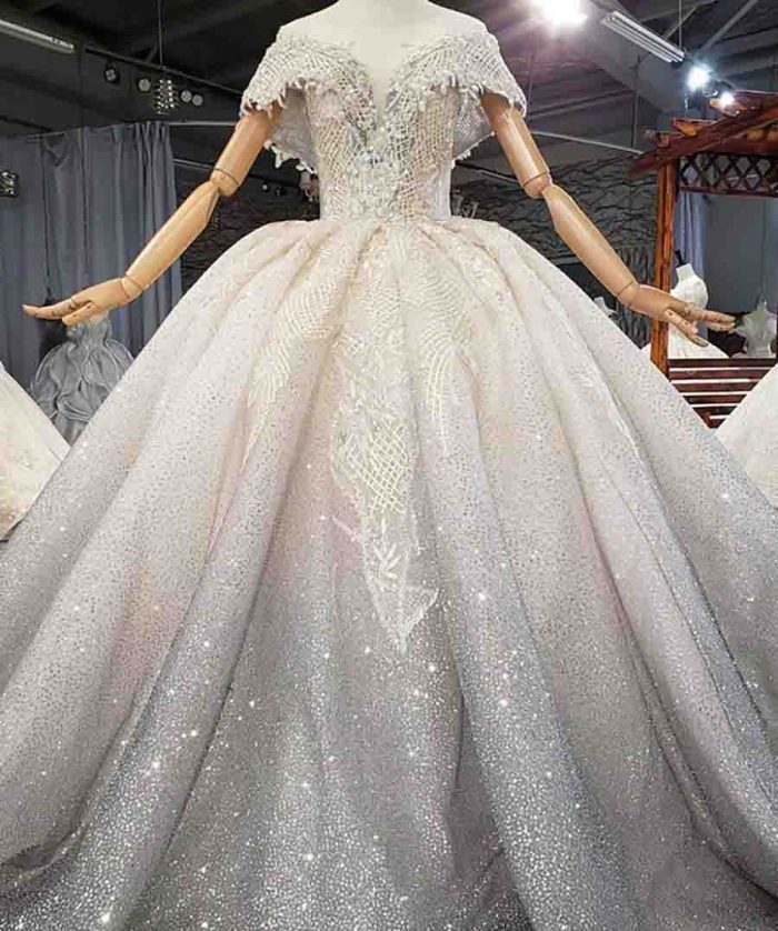 Beautiful Beads And Sequins Evening Dress 2020