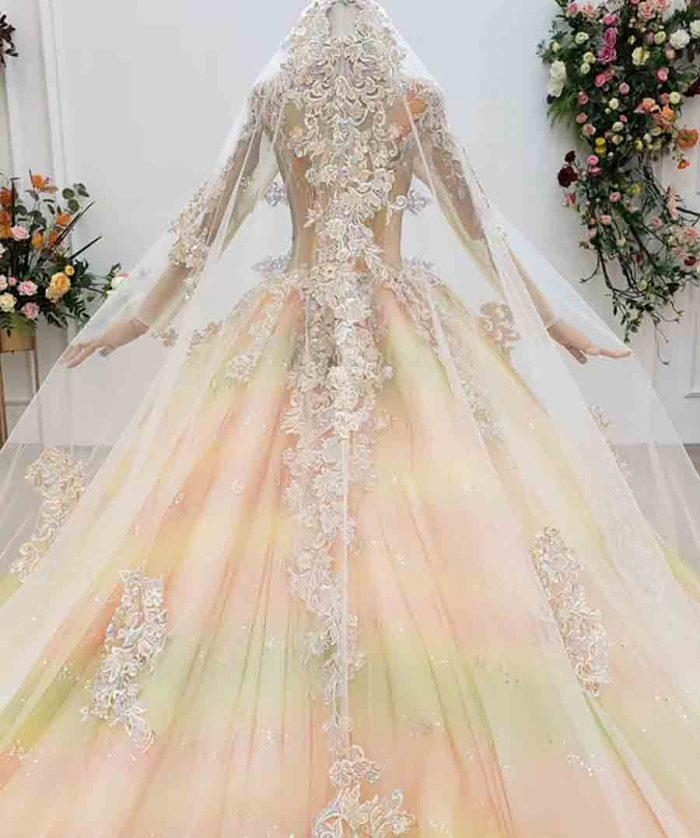 Brilliant Rainbow Colors Evening Dress 2020