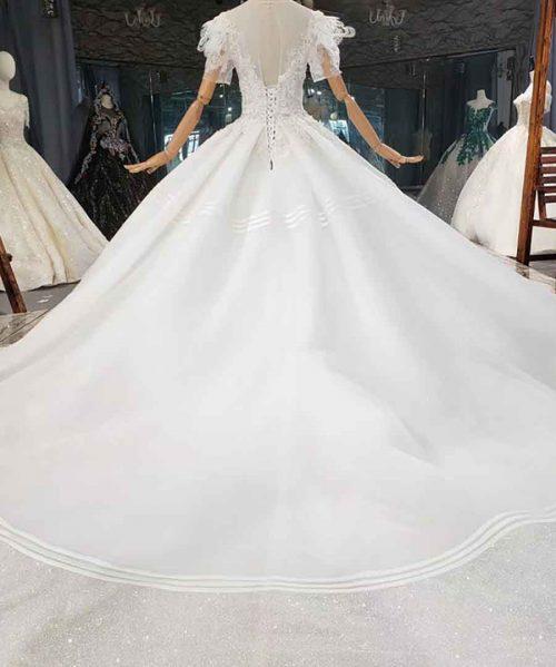 Ball-Gown Beaded Luxury Wedding Dress 2020