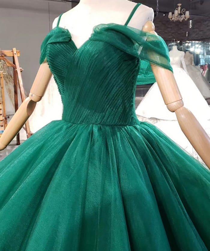 Grass Green Spaghetti Strap Sleeveles Evening Dress 2020 HTL1765