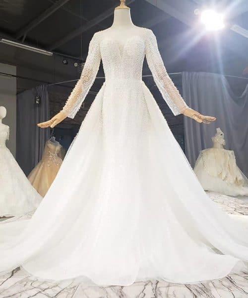 Detachable Mermaid Train Custom Wedding Dress 2020 HTL1767